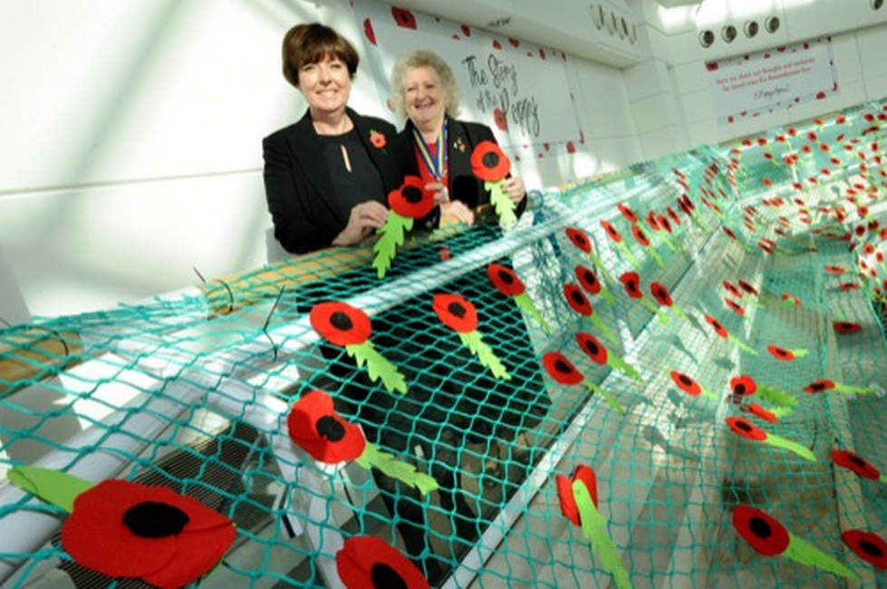 The Story of the Poppy display unveiled at Freshney Place Shopping Centre 500